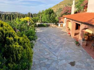 Neoclassical mansion with view and garden Andros Greece