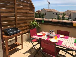 Appartement T3 duplex, piscine, Narbonne Plage