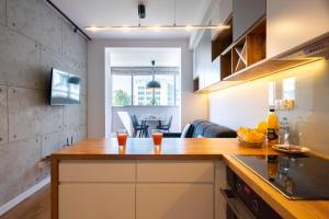 Slate Apartment in Lubicz City Center by Apart Service