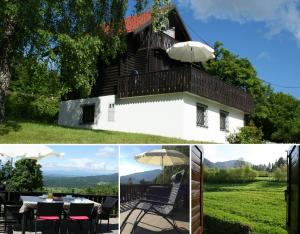 Chalet Pure Slovenia, set in a tranquil location with stunning mountain views.