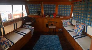 An entire houseboat with 3 bedrooms