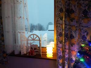 Apartament z kominkiem i wanną