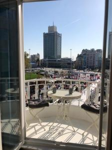 Great View of Taksim Square, Luxury Furnished on Main Street of Taksim, Partial Sea View