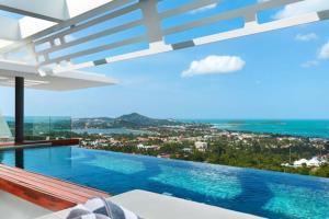 Aqua Villa Coral 7, 3 BR, Sea View, Infinity Pool, Sala