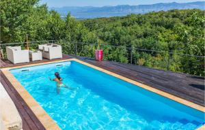 Stunning home in Dobrinj w/ Outdoor swimming pool, Sauna and 4 Bedrooms