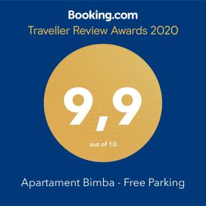 Apartament Bimba Free Parking