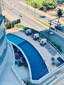 Apartamento mobiliado, Condomínio Riviera Ponta Negra com vista para o mar