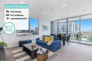 Luxury 2 Bed APT in South Brisbane FREE PARKING