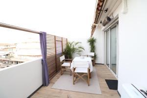 Studio Martinez Croisette Luxury and terrace 102, Апартаменты/квартиры  Канны - big - 8