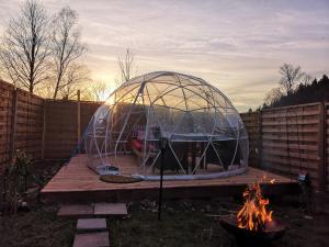 Bungalov Romantische 5 Millionen Sterne Bubble-Suite mit Hotpot (Optional) Hohenberg an der Eger Německo