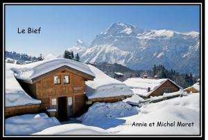 Location gîte, chambres d'hotes Demi-Chalet Le Bief --Prox pistes dans le département Haute Savoie 74