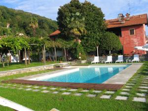 Apartment with 2 bedrooms in Massino Visconti with wonderful lake view shared pool enclosed garden 3 km from the beach
