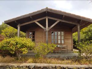 House with one bedroom in Los Llanos with wonderful sea view and furnished garden