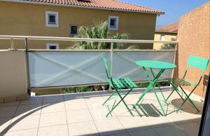 Appartement de 2 chambres a Canet en Roussillon avec magnifique vue sur la montagne terrasse et WiFi