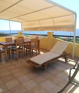 Villa with 3 bedrooms in Magomadas with wonderful sea view terrace and WiFi 10 m from the beach