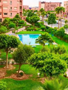 Apartment with 2 bedrooms in Marrakech with wonderful city view shared pool enclosed garden