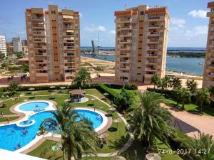 Apartment with one bedroom in San Javier with wonderful sea view shared pool enclosed garden 500 m from the beach
