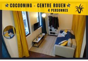 Charmant F2 Centre ville de Rouen Pour 4 personnes