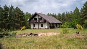 Hektar Ciszy dom na Kaszubach nad jeziorem