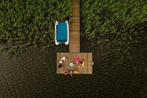 Ławka i Sielawka dom nad jeziorem z prywatnym pomostem