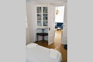 Traditional cycladic house with view in Andros Andros Greece
