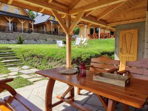 Domek w Borowikowym Zaciszu z dostępem do balii i sauny