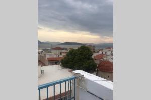 Aegina Blue Sea and Town Views Aegina Greece