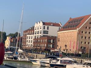 Apartamenty nad Motławą z widokiem na rzekę lub na patio