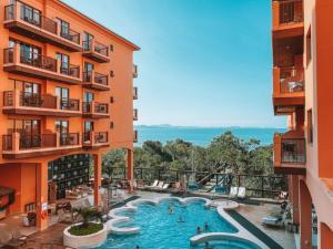 Studio em Jurerê em hotel a beira-mar