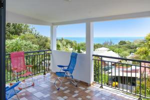 Maison de 2 chambres a Sainte Rose avec magnifique vue sur la mer jardin amenage et WiFi a 2 km de la plage