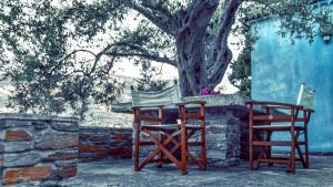 The Blue Getaway - Next to Pithara Waterfalls Andros Greece