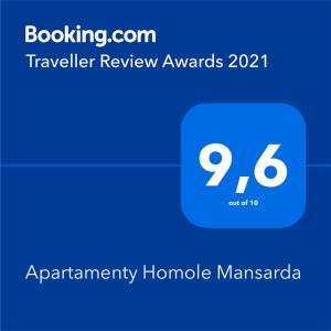 Apartamenty Homole Mansarda