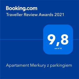 Apartament Merkury z parkingiem