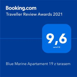 Blue Marine Apartament 19 z tarasem