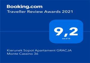 Kierunek Sopot Apartament GRACJA Monte Cassino 36