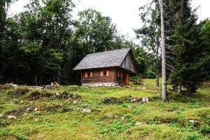 Gorska hiška Vogar nad Bohinjskim jezerom