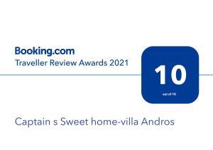 Captain s Sweet home-villa Andros Andros Greece