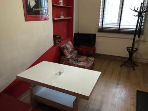 studio Red and White