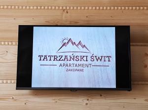 Apartament Tatrzański Świt z tarasem i garażem podziemnym Grotą Solną