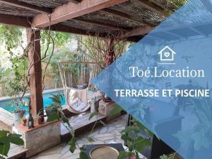 Toé Location STUDIO JOELLE Terrasse et Piscine