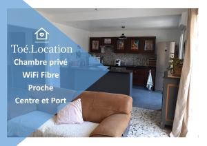 Toé Location Chez Alfred Chambre Privée WiFi Fibre Proche Centre et Port