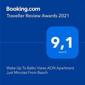 Wake Up To Baltic Views AON Apartment Just Minutes From Beach