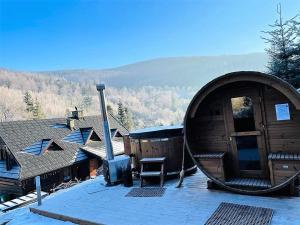 Malinowa 6 Domek w Szczyrku z sauną i balią