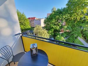Apartament STACJA Drzymały z balkonem