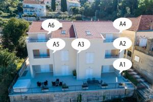 Apartment in Cavtat with sea view, balcony, air conditioning, WiFi 4979-6