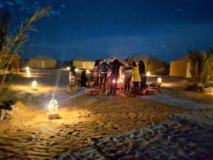 Erg desert camp