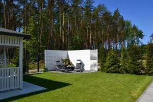 Luksusowe Apartamenty Bursztynowy Las Leśny Poranek z ogrodem i widokiem na las Ustka