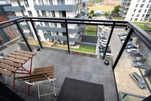 Apartament Blue Bastion Wałowa z klimatyzacją i miejscem parkingowym w podziemnym parkingu