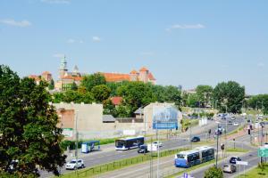 Apartament z widokiem na Wawel w centrum miasta
