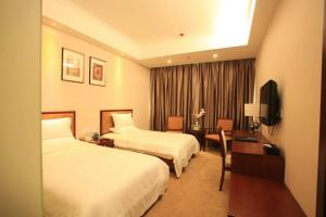 Auberges de jeunesse - GreenTree Inn ShanXi LuLiang FengShan Road Central Park Express Hotel